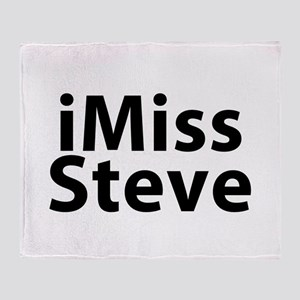iMiss Steve Throw Blanket