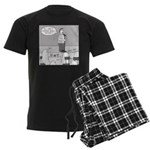 Ghost Comedian (no text) Men's Dark Pajamas