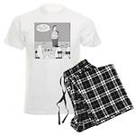 Ghost Comedian (no text) Men's Light Pajamas