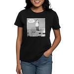Ghost Comedian (no text) Women's Dark T-Shirt