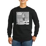Ghost Comedian (no text) Long Sleeve Dark T-Shirt