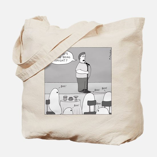 Ghost Comedian (no text) Tote Bag
