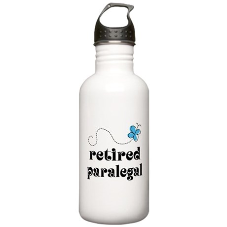 Retired Paralegal Gift Stainless Water Bottle 1.0L