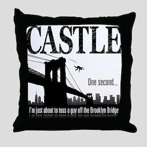 Castle Bridge Toss Throw Pillow