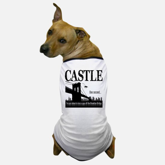Castle Bridge Toss Dog T-Shirt