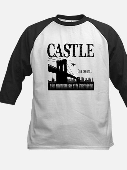 Castle Bridge Toss Kids Baseball Jersey