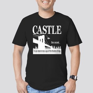 Castle Bridge Toss Men's Fitted T-Shirt (dark)