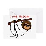 I Love Training: Sloth Greeting Card