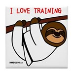 I Love Training: Sloth Tile Coaster