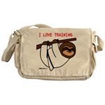 I Love Training: Sloth Messenger Bag