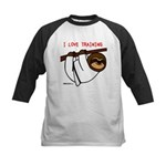 I Love Training: Sloth Kids Baseball Jersey