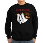 I Love Training: Sloth Sweatshirt (dark)