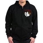 I Love Training: Sloth Zip Hoodie (dark)