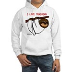 I Love Training: Sloth Hooded Sweatshirt