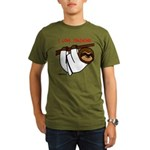 I Love Training: Sloth Organic Men's T-Shirt (dark