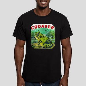 Croaker Frog Cigar Label Men's Fitted T-Shirt (dar