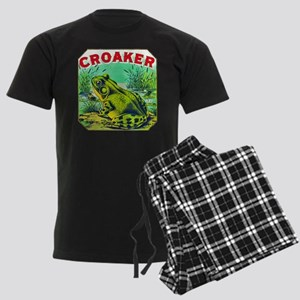 Croaker Frog Cigar Label Men's Dark Pajamas
