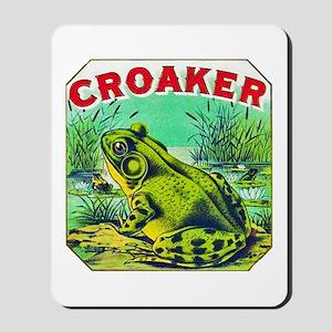 Croaker Frog Cigar Label Mousepad