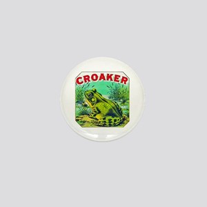 Croaker Frog Cigar Label Mini Button