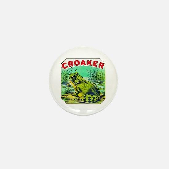 Croaker Frog Cigar Label Mini Button