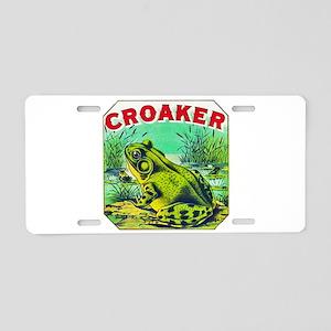 Croaker Frog Cigar Label Aluminum License Plate