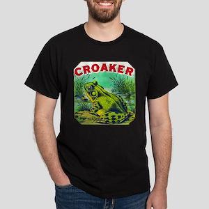 Croaker Frog Cigar Label Dark T-Shirt