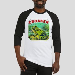 Croaker Frog Cigar Label Baseball Jersey