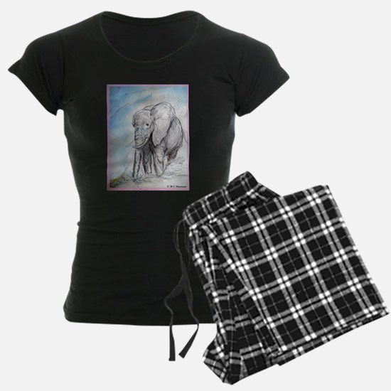 Elephant, wildlife art, Pajamas