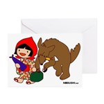 Little Red Cap Greeting Cards (Pk of 20)