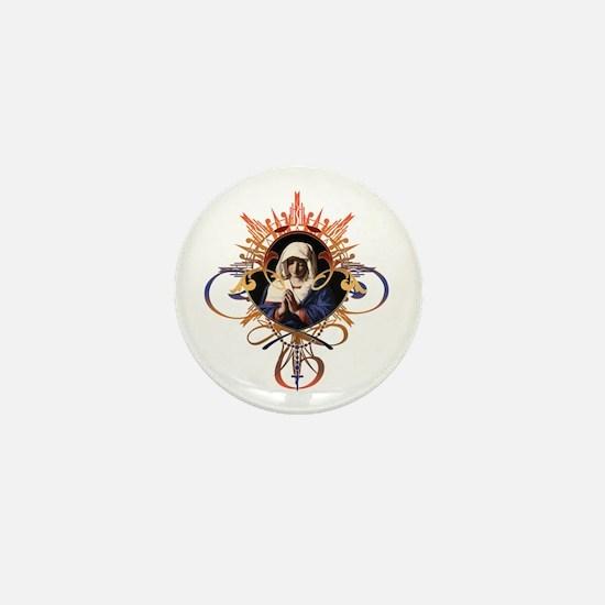 Pray the Rosary Mini Button