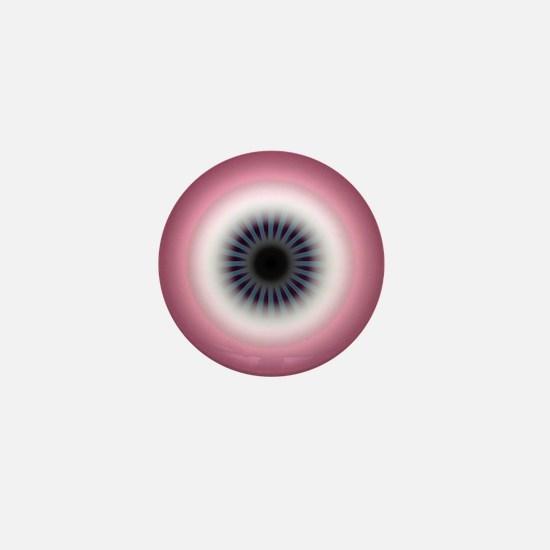 Sunrise Plum Deco Evil Eye Mini Button