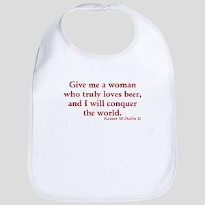 Beer woman Bib