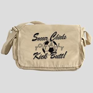 Soccer Chicks Kick Butt! Messenger Bag