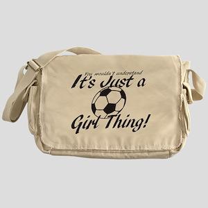 Soccer - It's a Girl Thing! Messenger Bag