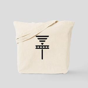 Disc Basket Smooth Black Tote Bag