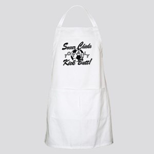 Soccer Chicks Kick Butt! Apron