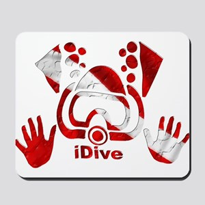 iDive Dive Flag Original Mousepad