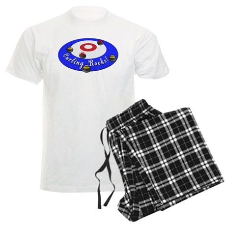 Curling Rocks! Men's Light Pajamas