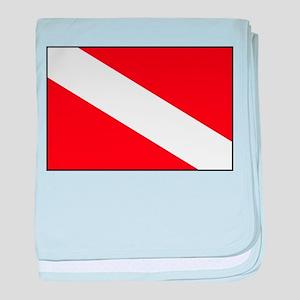 Generic Dive Flag Pocket baby blanket