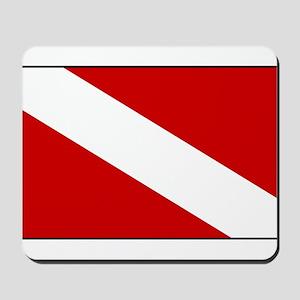 Generic Dive Flag Pocket Mousepad