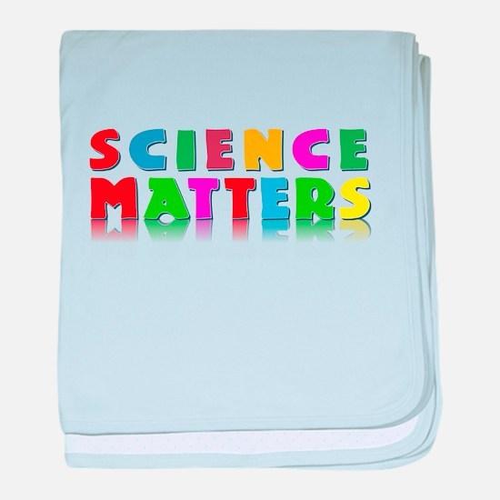 Science Matters baby blanket