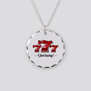 """I Feel Lucky"" Necklace Circle Charm"
