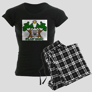 Disc Golf Landscape Original Women's Dark Pajamas