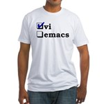 vi vs emacs -- vi Fitted T-Shirt