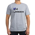 vi vs emacs -- vi Men's Fitted T-Shirt (dark)