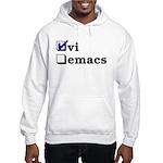 vi vs emacs -- vi Hooded Sweatshirt