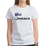 vi vs emacs -- vi Women's T-Shirt