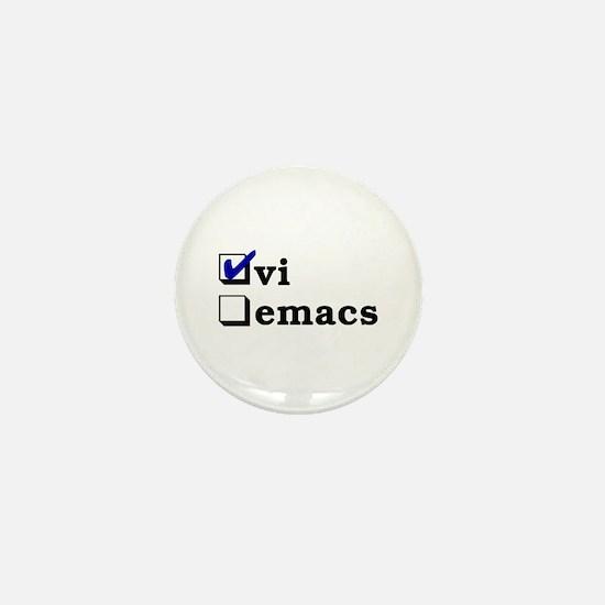 vi vs emacs -- vi Mini Button