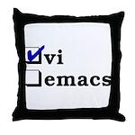vi vs emacs -- vi Throw Pillow