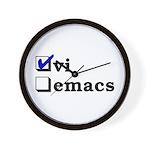 vi vs emacs -- vi Wall Clock